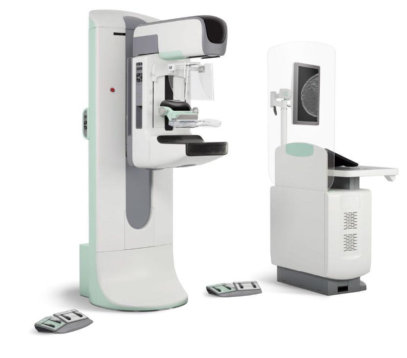 Mammogram Screening Test Machine and monitoring screen displayed